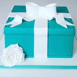 Bolo caixa Tiffany