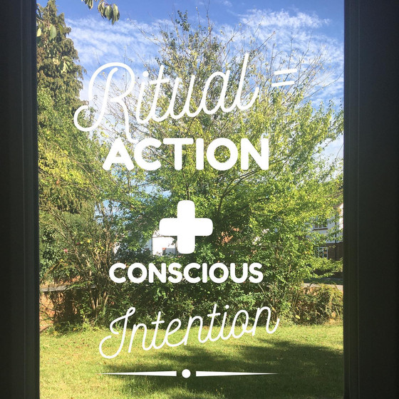 Life is a series of small Rituals - use them consciously
