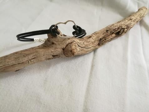 Bracelet cuir/argent