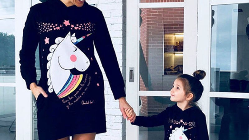 Mommy and Me  Hoodies Dress