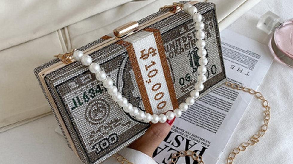 New Women's Bag Diamond-Studded Dollar Bag