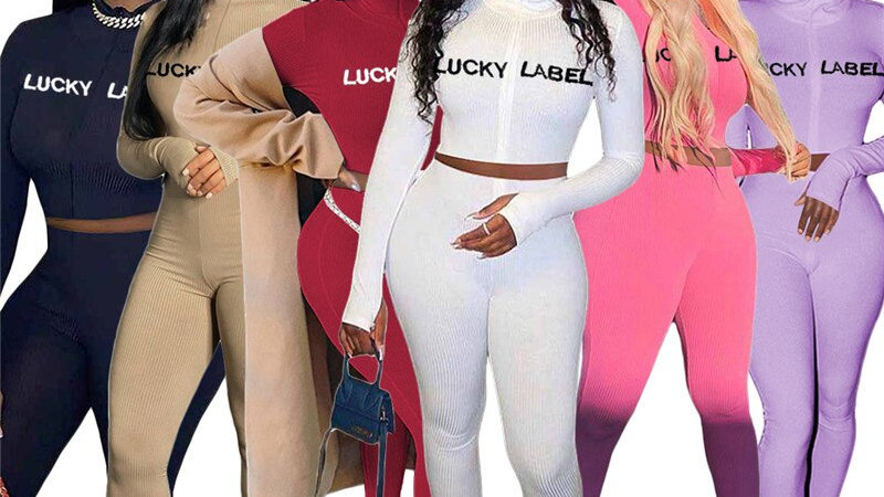Lucky Label Thicken Knitted Crop Top