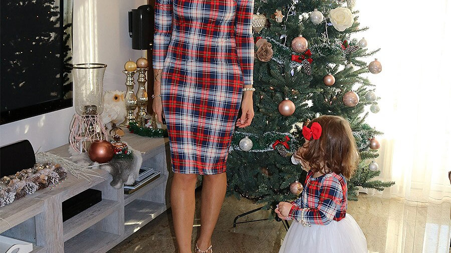 Mommy and Me Plaid Christmas  Dresses