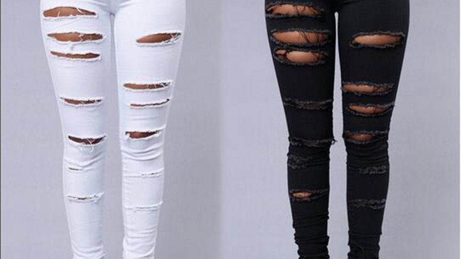 Fall denim Ripped Jeans