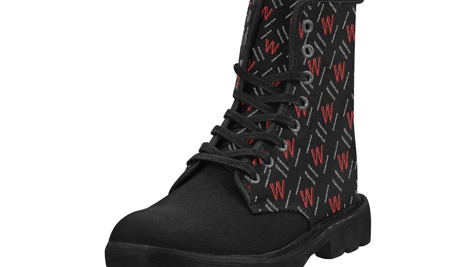 Wakerlook Design Men's Lace Up Canvas Boots