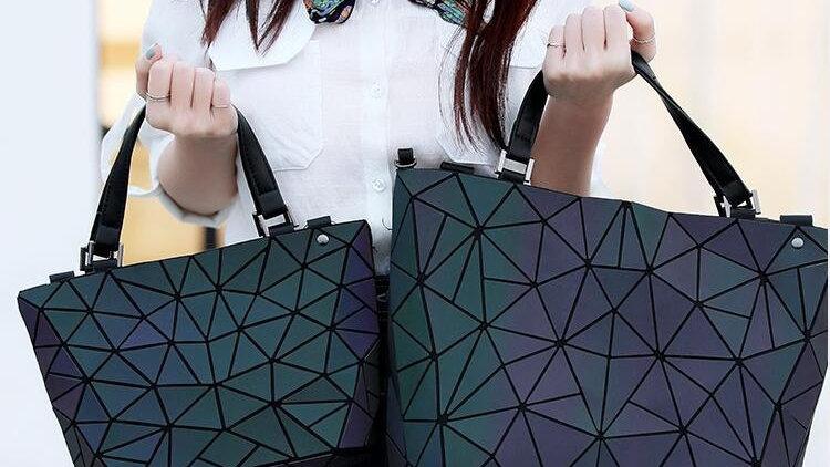 Luminous Geometry Tote Bag