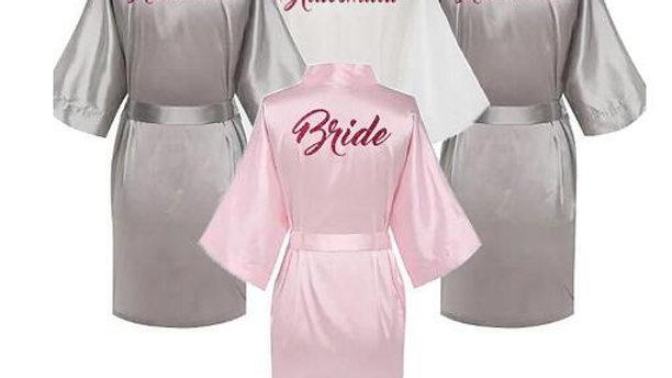 Bride Bridesmaid Satin  Bathrobe