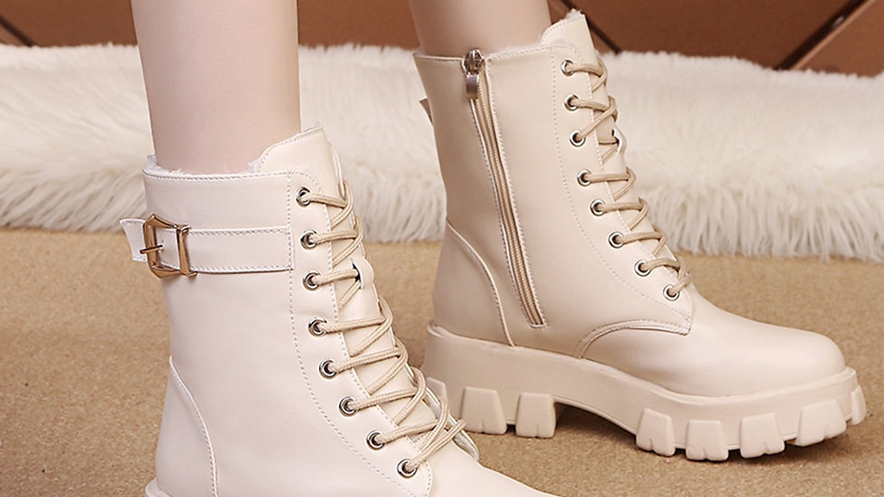 Basic  Fur Plush Insole Snow Boots