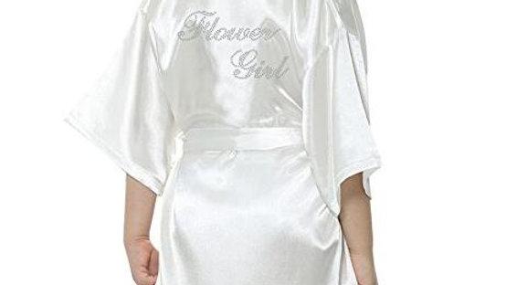Mini Flower Girl Satin Solid Bath Robe
