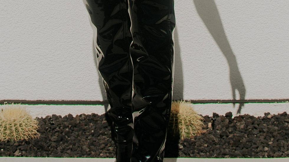 Naoyuki Vegan Leather Over the Knee Boots