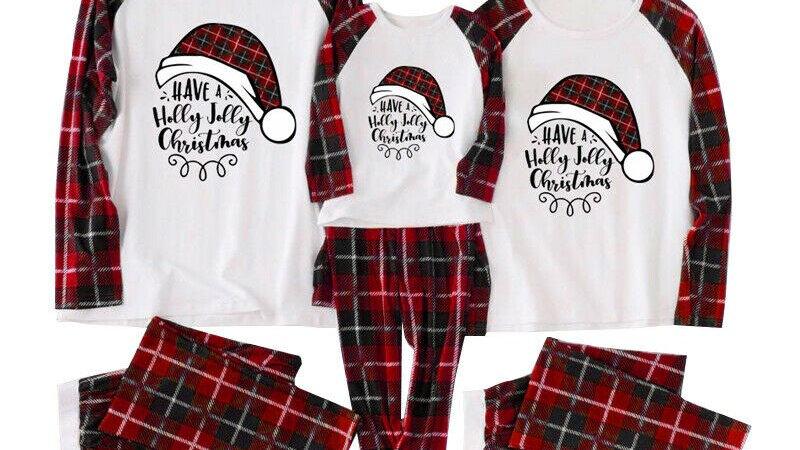 Family Christmas Plaid Pajamas Set