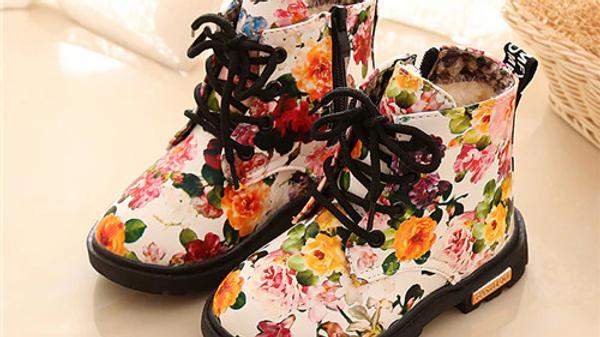 Comfy Floral Dr Martin Boots