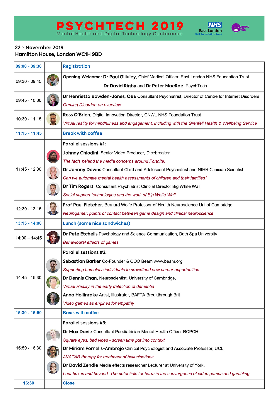 PSYCHTECH Agenda for front page of websi