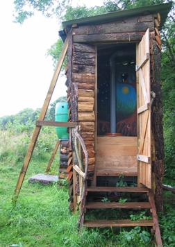 Composting toilet at Landmatters