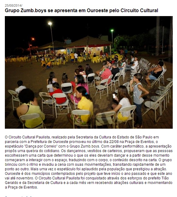 Divulgação - Ouroeste - SP