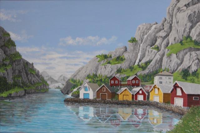 Boat Houses–Norwegian Fjord