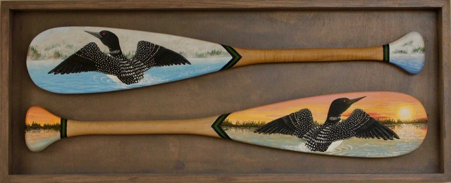 Box Framed pair of 24 inch paddles