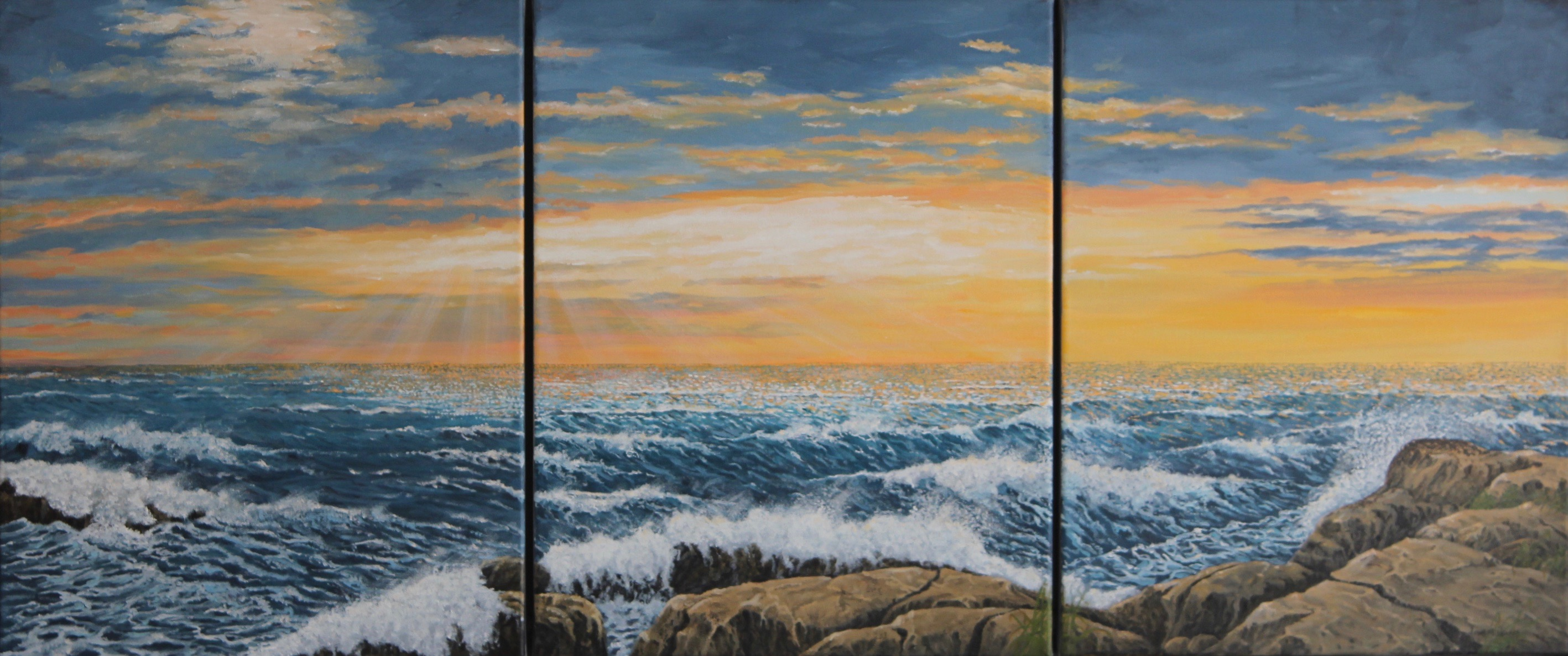 Rough Day on the Bay – Triptych