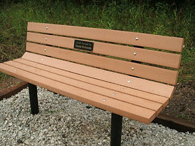 This wonderful trail bench was generously donated by Prairie Trails Club member Susan DeSantis.