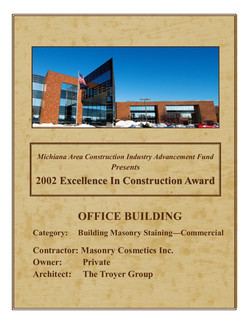 '02 Excellence in Construction Award