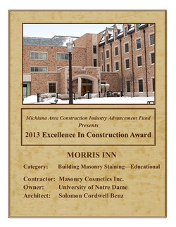 '13 Excellence in Construction Award