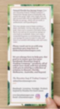 Instructions Hawaiian Soap Rack Card Bac