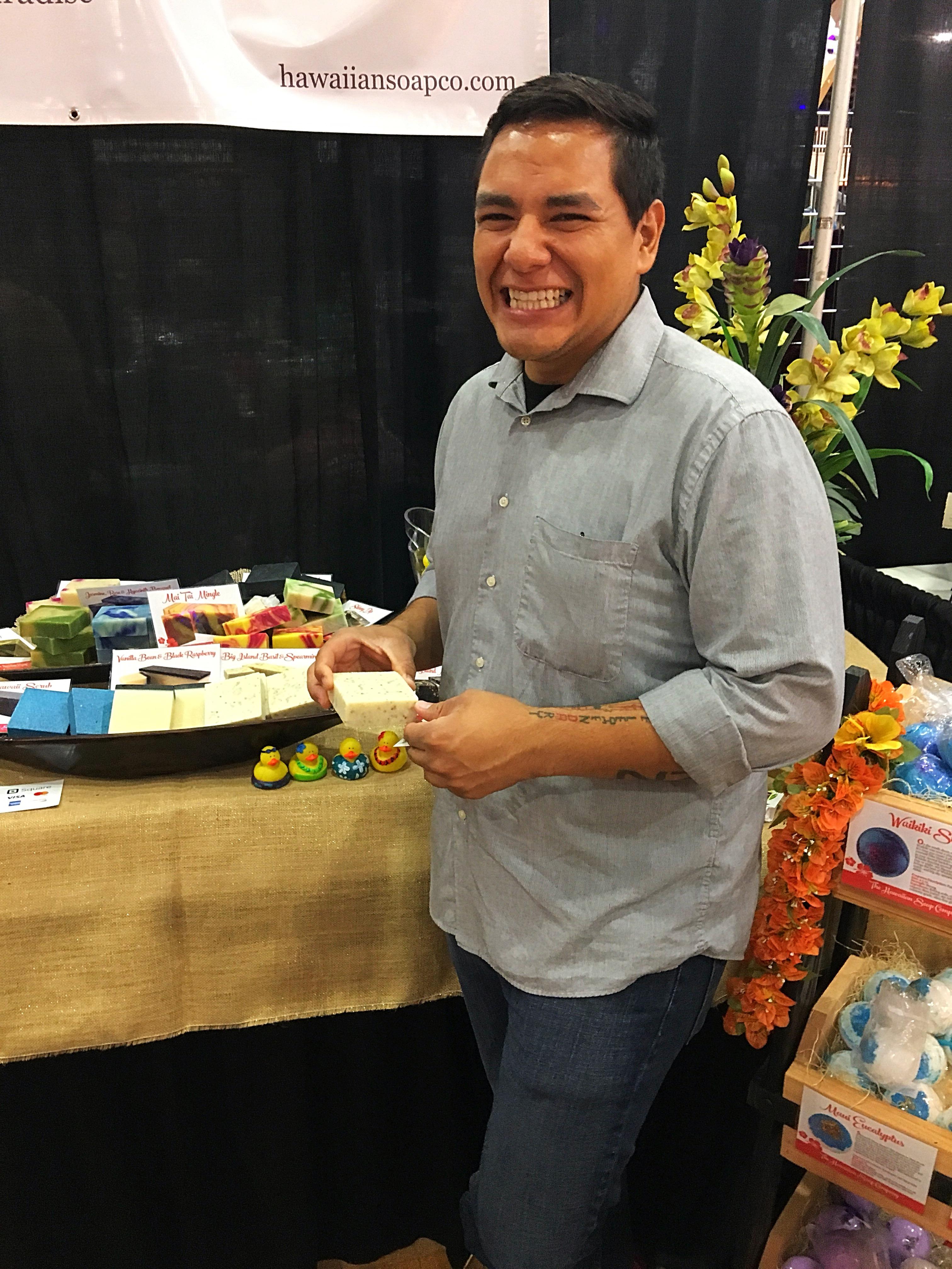 A Happy Hawaiian Soap Co. Customer