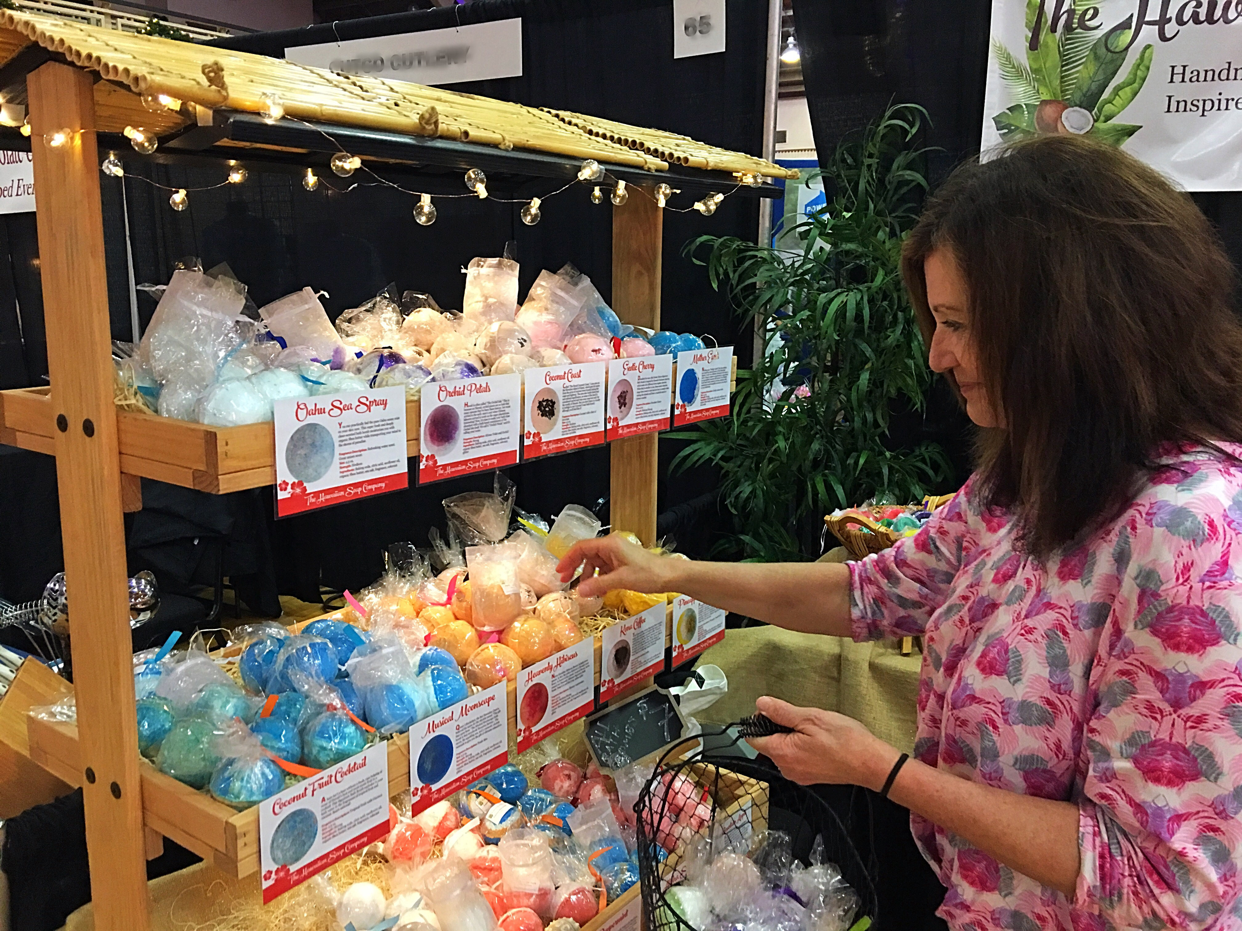 Shopping at Hawaiian Soap Co.