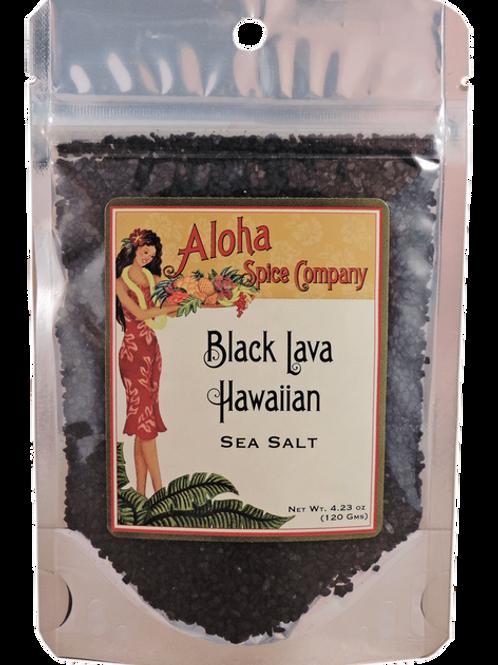 Black Lava Hawaiian Sea Salt 4.23 Oz. Stand Up Pouch