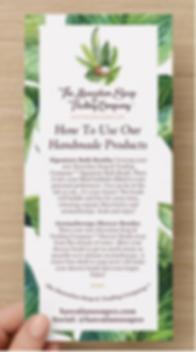 Instructions Hawaiian Soap Rack Card Fro