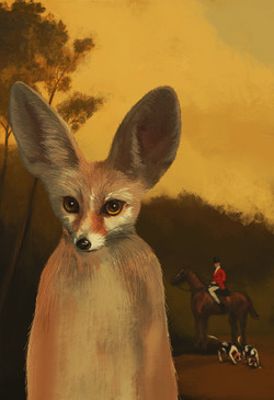 Fennec Fox and the Hounds