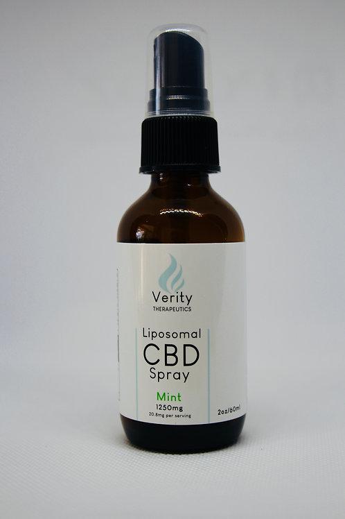 Liposomal CBD Isolate Spray    20.8mg/ml  |  Total CBD: 1,250mg  |  60ml