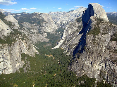 Yosemite - Half Dome aerial vista.jpg