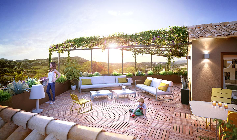 appartement duplex avec terrasse de 74m²