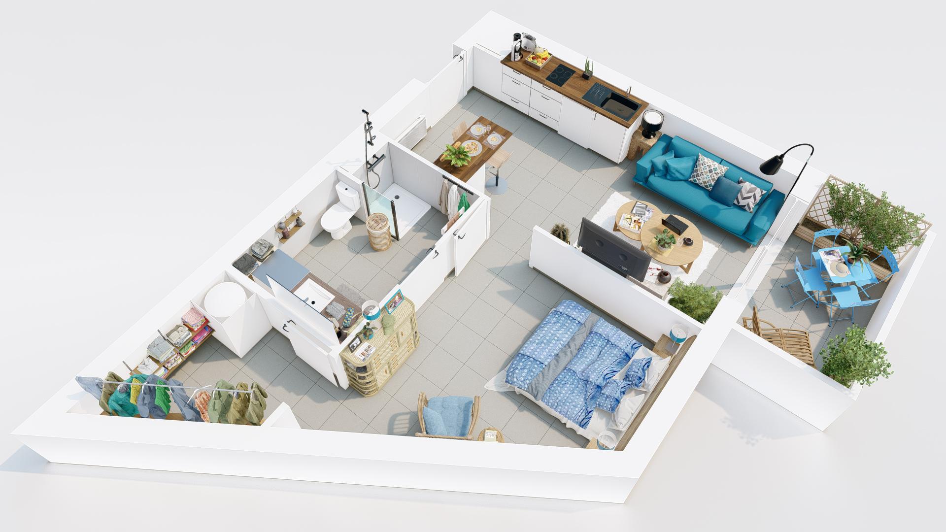 appartement de 2 pièces lot 57 - 3