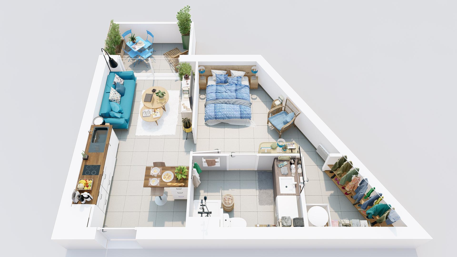 appartement de 2 pièces lot 57 - 2