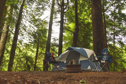 Camping Tent with Chairs