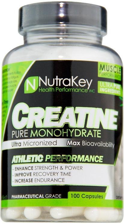 NutraKey Creatine Monohydrate 100 caps