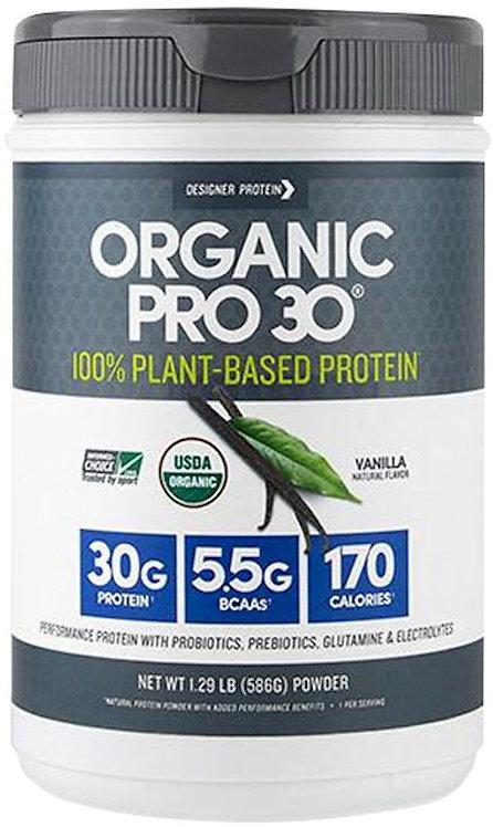 Designer Protein Organic Pro 30: Plant-Based