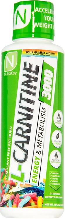 Nutrakey Liquid L-Carnitine 3000