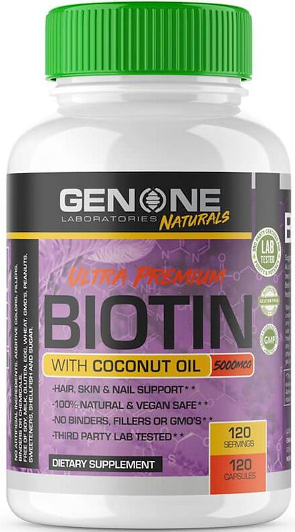 Genone Labs Ultra Premium Biotin with Coconut OIL