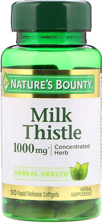 Nature's Bounty Milk Thistle 1,000mg 50 Softgels