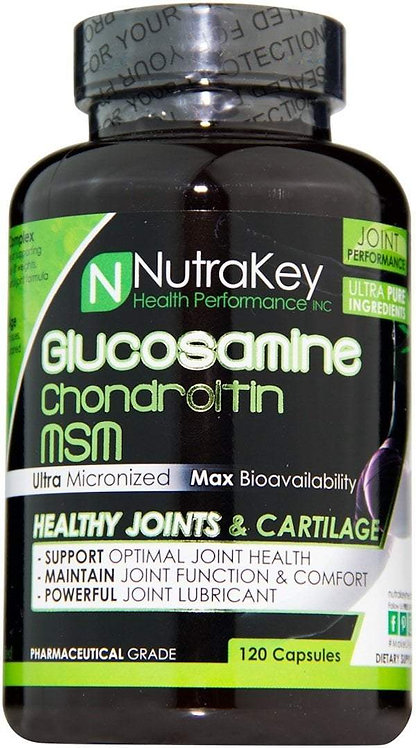 Nutrakey Glucosamine Chondroitin MSM 120 Caps