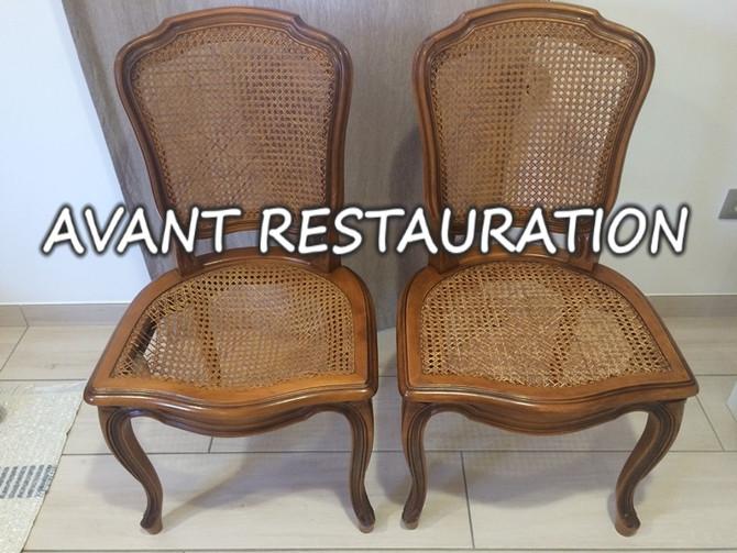 Idée Déco : Remplacer le cannage par des assises en tissus plus confortables et plus résistante !