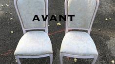 Réfection de chaises tapissées par votre tapissier du Rhone
