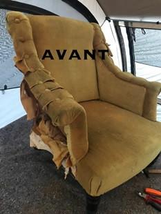 Réfection de fauteuils par votre tapissier du Rhone