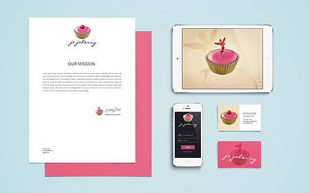 Logo and stationery design for cup cake company
