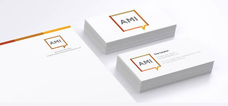Logo and stationery design for communications company