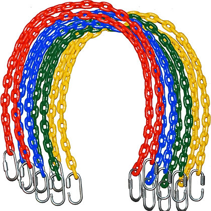 "Two 66"" Fully Coated Chains - Green Yellow or Blue"