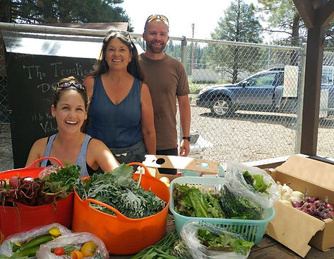 Harvest at Slow Food Lake Tahoe's Food Bank Garden located in Truckee, CA